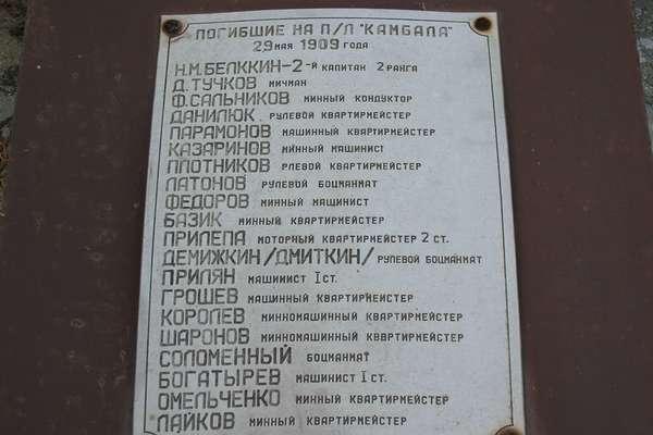 Камбала список декабрь 2007