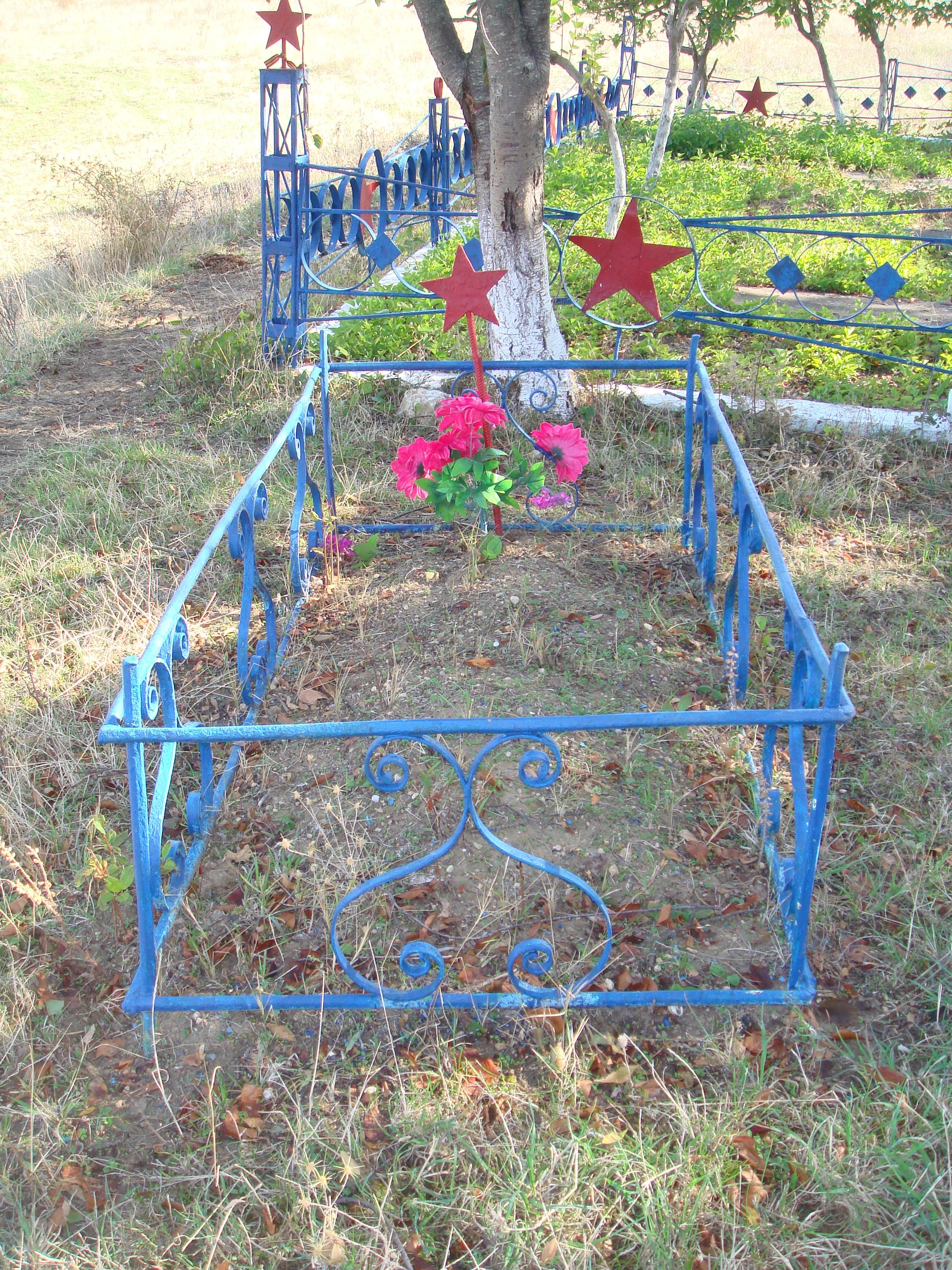Одиночная могила за оградой кладбища