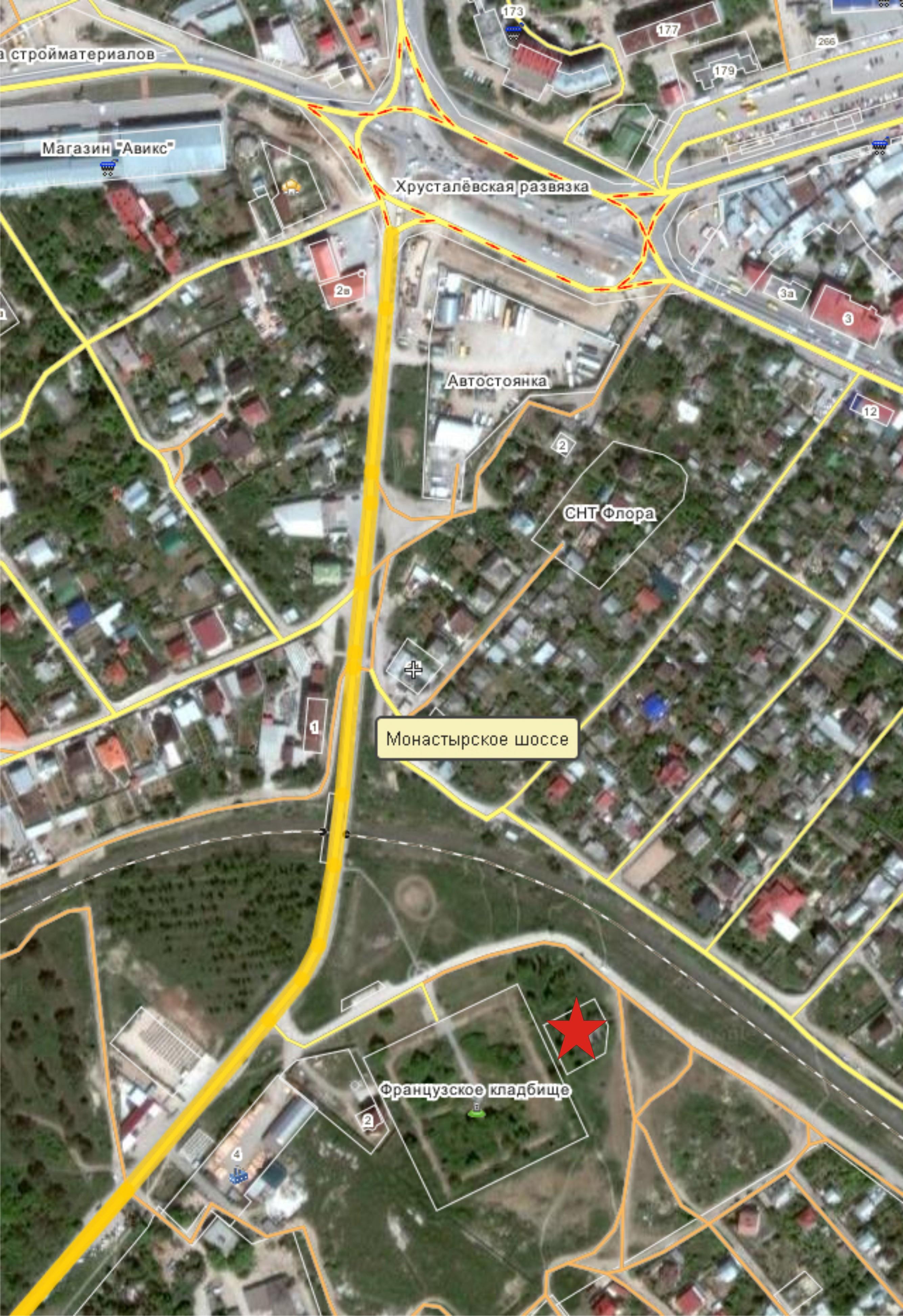 Схема месторасположения